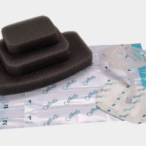Вакуумные наборы для закрытия ран с содержанием серебра